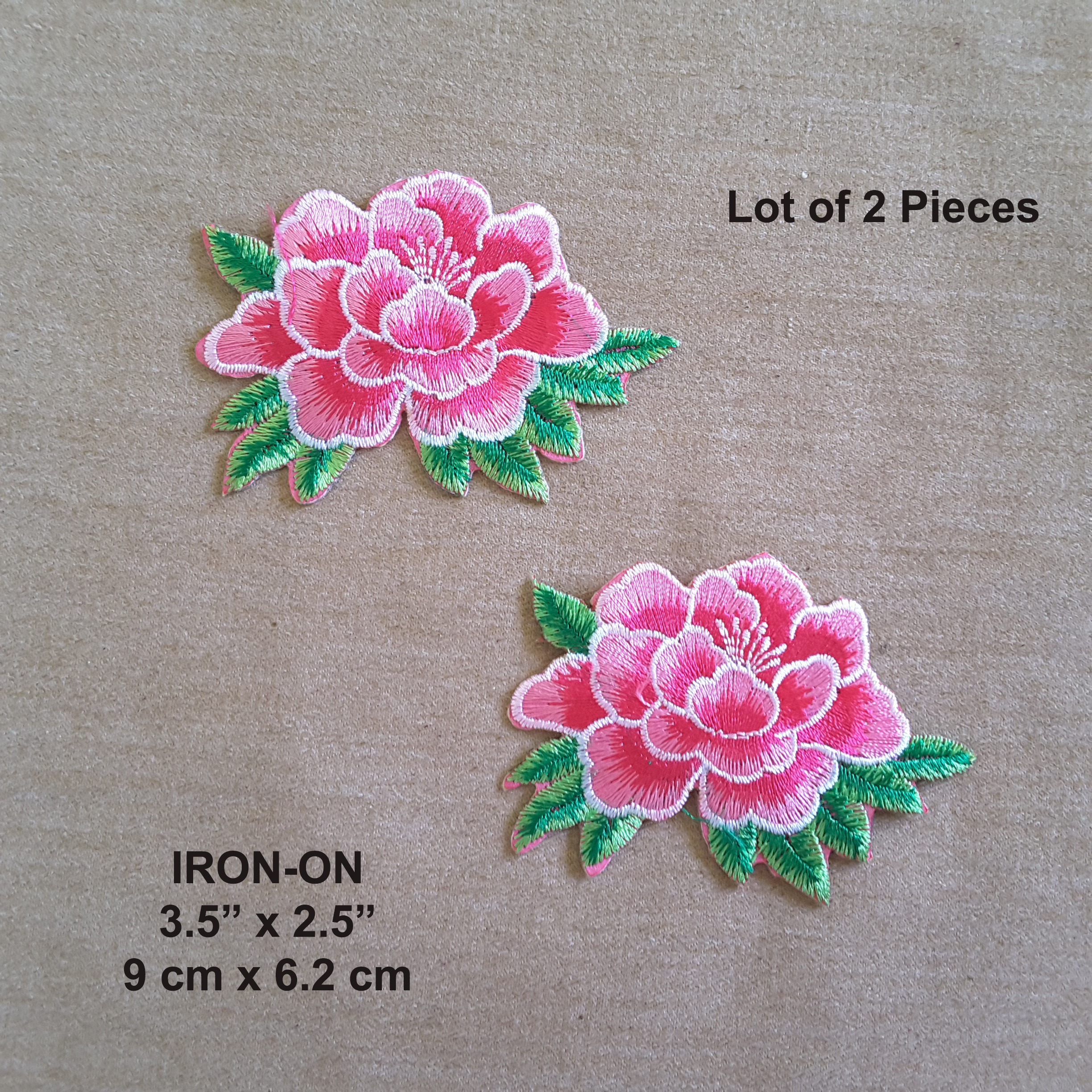 Lot of 2 pink lotus flower embroidered iron on flowers patch youre viewing lot of 2 pink lotus flower embroidered iron on flowers patch 1015 mightylinksfo
