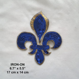 "1 1//4/"" Royal Blue Stars 3 Pc STARS -Iron On Embroidered Applique//Astrology"